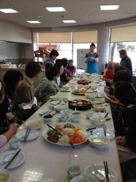 韓国の家庭料理とお話